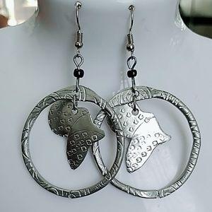 Tuareg alluminium dangle earrings